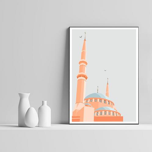 Beirut Masjid Print