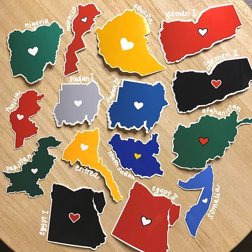 REP YOUR COUNTRY Vinyl Sticker