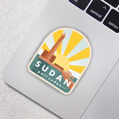 Port Sudan, Sudan City Badge Vinyl Sticker