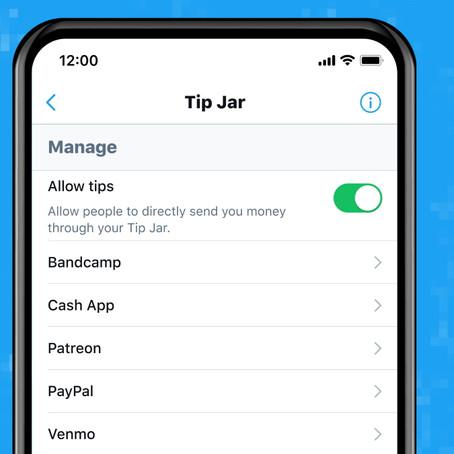 """""""Tip Jar"""" la nueva función de Twitter para que los creadores puedan recibir propinas."""