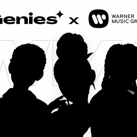 Warner Music Group se asocia con la empresa Genies para desarrollar avatares y NFT