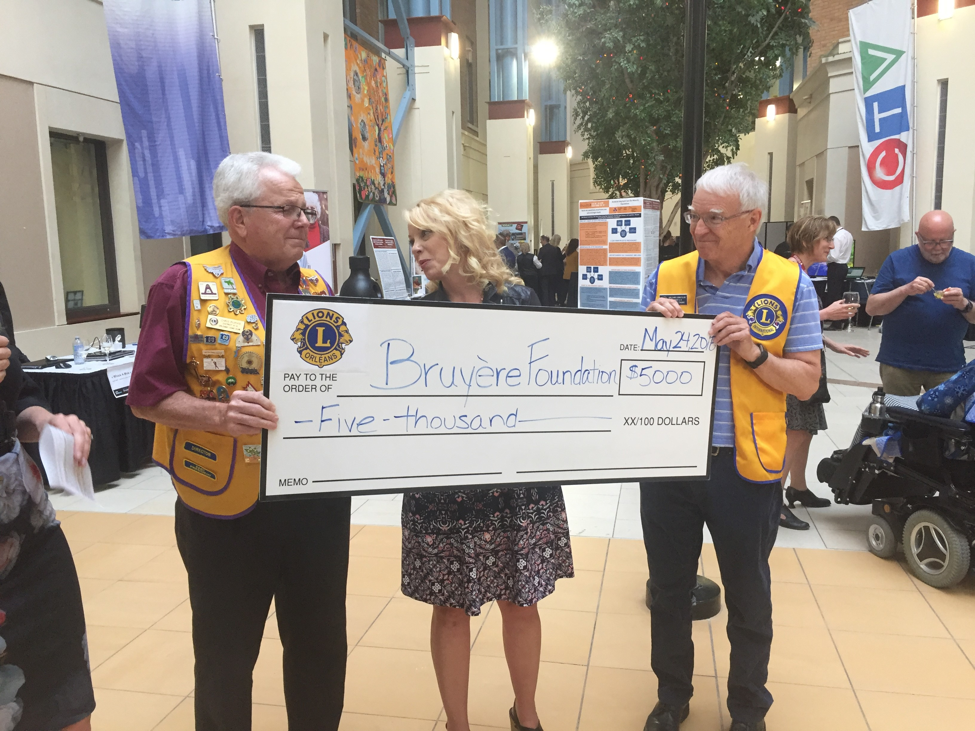 Cheque to Bruyere May 18