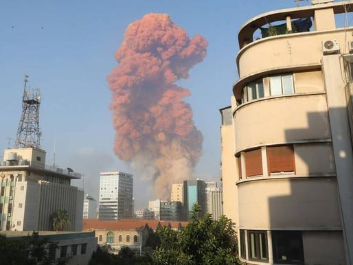 Explosões no porto de Beirute, Líbano, causam grande destruição