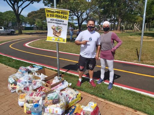 Ação solidária da Secretaria de Esportes e Lazer de Foz do Iguaçu arrecada 2 toneladas de alimentos