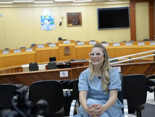 Vereadora Yasmin fala sobre luta pelos direitos da mulher e demais ações e prioridades do mandato