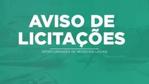 AVISO DE LICITAÇÕES