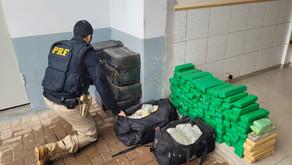 PRF apreende no Paraná mais de 1 tonelada de maconha