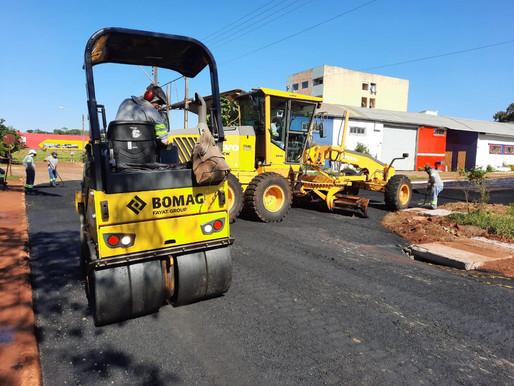 Prefeitura de Foz do Iguaçu inicia pavimentação no Jardim Central