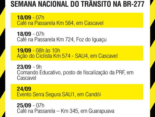 Ecocataratas define cronograma da Semana Nacional de Trânsito