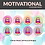 Thumbnail: Motivational Sticker Pack | 48 Stickers (Girl)