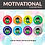Thumbnail: Motivational Sticker Pack | 48 Stickers (Boy)