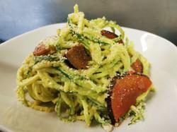 CarbRAWnara spaghetti di zucchine crudi