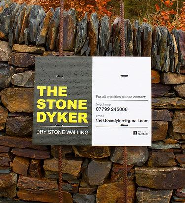 stone dyker - dry stone signage