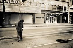Man Peeing on Spring Street #2