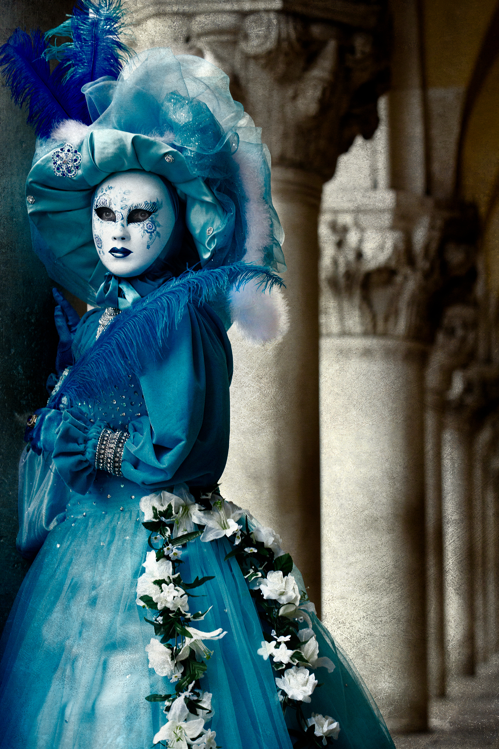 Blue Performer at Doge Palace