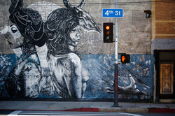 Mural of Two Women  on 4th Street