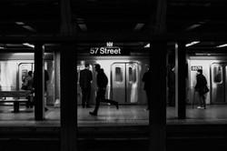 NYC Subway #4 - B&W