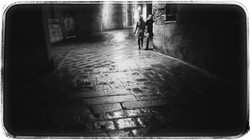 Couple Walking at Night #2