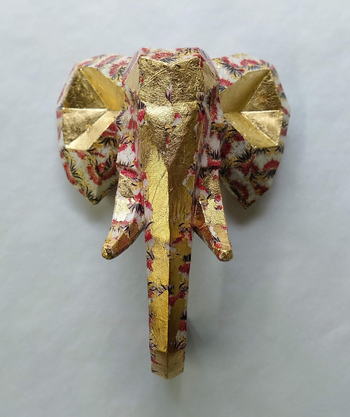 Geometric Elephant Head