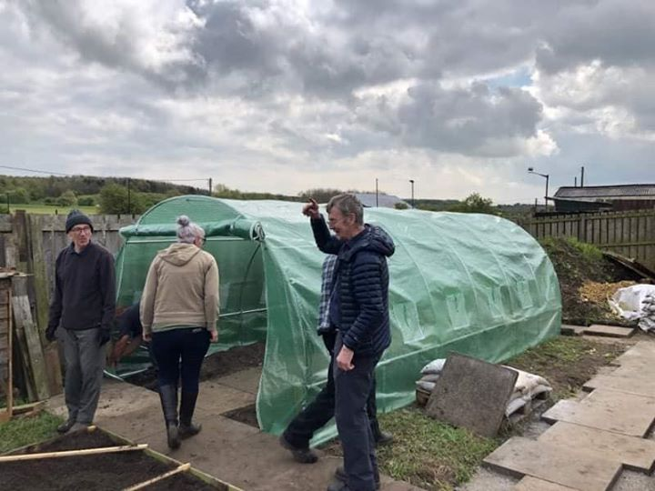 Polytunnel built