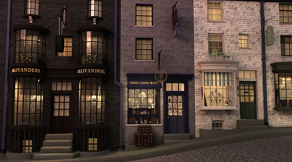 3d harry potter diagon alley render