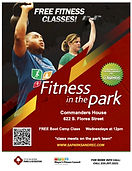 Commanders House Fitness Class Flyer