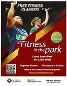 Labor Street Park Fitness Class Flyer
