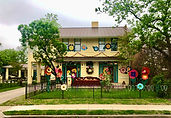 A home decorated for the the KWA and LNA house floats event