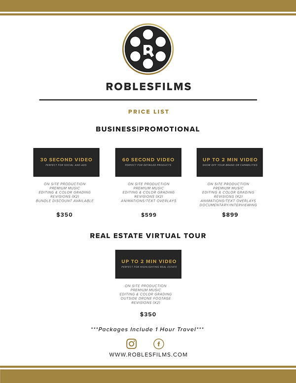 RoblesFilms Business Real Estate Prices