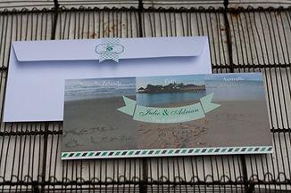 carte remerciements, mariage, photo, photographie, voyage, avion, îles paradisiaques