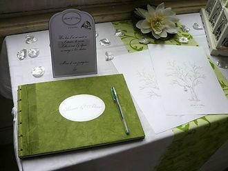 arbre empreintes, souvenirs, cérémonie, mariage, encre, invités