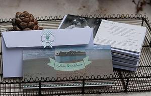 carte remerciements, mariage, photo, photographie, voyage, avion, îles paradisiaques, portraits