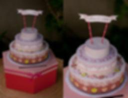 Urne boîte cadeaux mariage pièce montée gâteaux en papier gourmandise