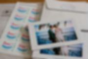 carte remerciements, mariage, photo, photographie, portraits, timbre
