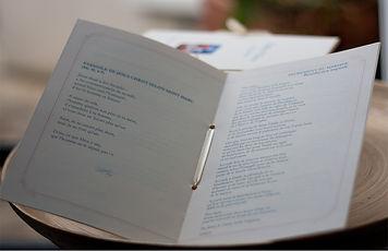 Livret de messe, cérémonie, mariage, reliure ruban