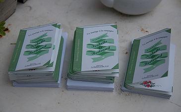 carte remerciements, mariage, livre, champêtre, coquelicots