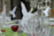 Marque-place dîner mariage oiseau papier découpé silhouette