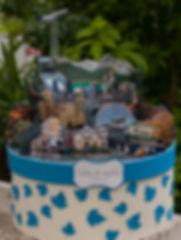 Urne boîte cadeaux mariage décor découpé personnalisé voyage Canada Québec