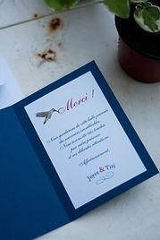 carte remerciements, mariage, photo, photographie, portraits, colibri
