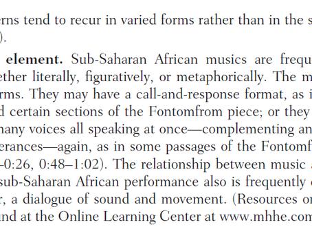 Africa, the Origin of Music