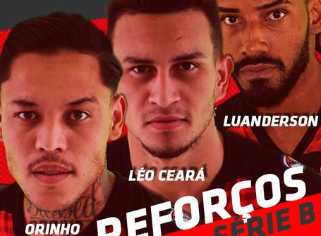 Oeste Barueri anuncia a chegada de Luanderson, Orinho e Léo Ceará.