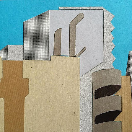 'Lloyd's Building' Collage on paper. 199