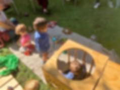 niños en taller de psicomotricidad en Yohanan