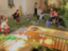 Taller de psicomotricidad en el jardín de Yohanan