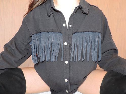 '' Wild West'' Denim Shirt Jacket