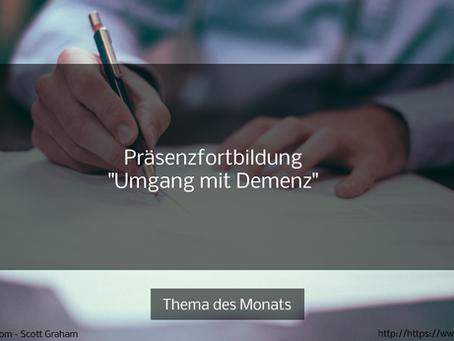 """Präsenzfortbildung: """"Umgang mit Demenz"""""""