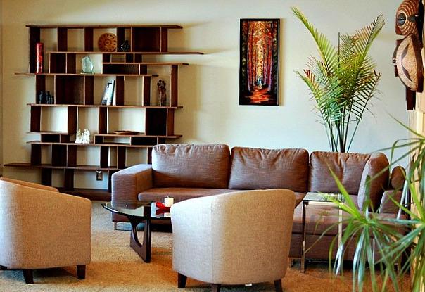 Bilobran Living Room - Lake Burien Residenc