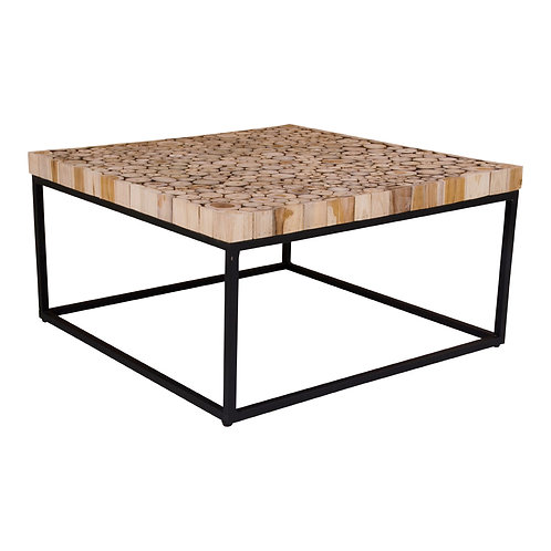 House Nordic COUCHTISCH KNOXVILLE aus Holz und Gestell aus Stahl