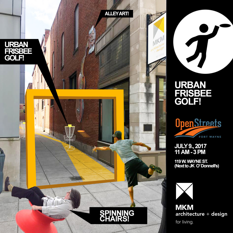 MKM Urban Frisbee Gold at Fort Wayne's Open Streets Event