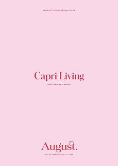 Capri Living Product & Inclusions Guide_